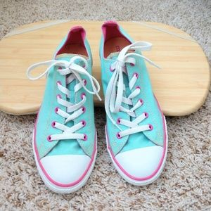 Converse Green Mint and Pink Size 9